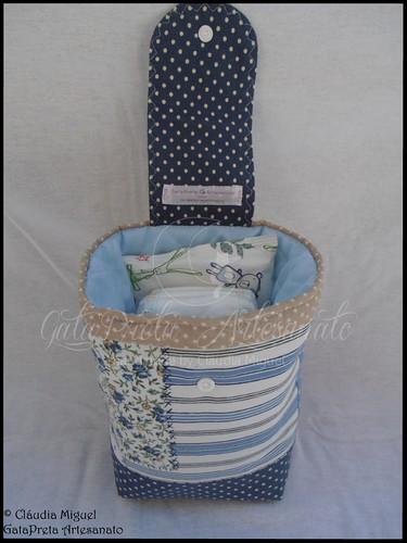 """Mala de maternidade e bolsa para fraldas """"Blue Patch"""""""