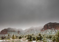 Sedona. (Mike's Mode (Miguel H.)) Tags: arizona march nieve snowstorm sedona