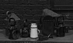 Tea can and other essentials. (MickyB1949) Tags: railway trains steamengine oillamps barrowhillroundhouse steamshed