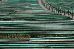 Places . Past (Iktorija) Tags: abstract green lines bench geometry many