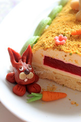 Easter Cake (D.M) Tags: food bunny cake easter sweet sugar homemade marzipan redcurrant macarons advocat