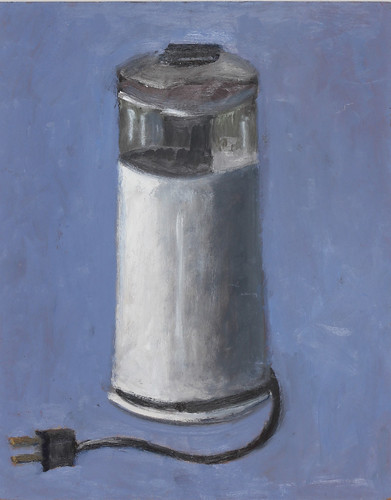 "Coffee Grinder - oil on board 12"" x 16"" $500"