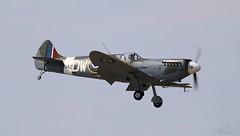 Spitfire RB142 G-CEFC Lee on Solent Airfield 2015 (SupaSmokey) Tags: lee solent spitfire airfield 2015 rb142 gcefc