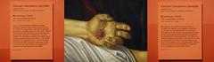 """Crucifixion: false - Kreuzigung: falsch - Detail: Giovan Gerolamo Savoldo """"Lamentation of Christ"""" """"Beweinung Christi"""" - Kunsthistorisches Museum Wien - Ereignis Ostern, Easter Karfreitag, Good Friday (hedbavny) Tags: vienna wien red detail rot museum painting easter austria sterreich blood hand finger diary jesus note silence passion christianity ostern wound tagebuch khm crucifixion christus blut mythos goodfriday lamentation thema kunsthistorischesmuseum stille karfreitag mythologie gemlde wunde notiz kreuzigung christentum leinen bluten ereignis beweinung lamentatio leintuch savoldo fingerbung passionsgeschichte hedbavny ingridhedbavny wundmal themenkreis giovangerolamosavoldo"""