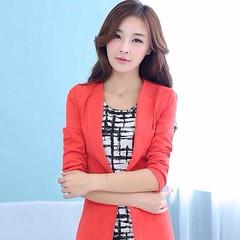 #เสื้อสูท แฟชั่นเกาหลีทรงสวยหรูมากกระดุม1เม็ด นำเข้า ไซส์XL สีส้ม - พร้อมส่งTJ7235 ราคา1350บาท เสื้อสูทก็ดูหรูมากทีเดียว สวมใส่เสื้อสูทแขนยาวได้เหมาะทุกโอกาสด้วยเสื้อสูทแฟชั่นทันสมัยแบบสาวเกาหลีสวยได้คลาสสิก ใส่ออกงานราชการ งานครูโรงเรียน พบลูกค้า พิธีการ
