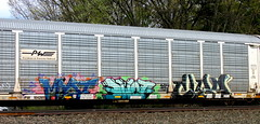 myst - dwot - clay (timetomakethepasta) Tags: railroad train graffiti providence clay freight worcester pos myst pw autorack dwot