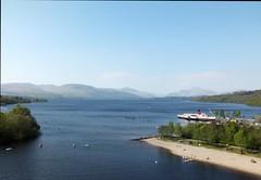Loch Lomond. (iwbaird) Tags: blue water scotland landscapes highlands fuji finepix lochlomond lochs paddlesteamers
