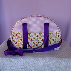 Weekender kit - Owl bag (D'Sapo) Tags: birds bag lilac fabric cotton pouch coruja yelow bolsa handbag owls maleta polkadot weekender bolinha lils algodo lunchbag marmita necessaire po lancheira dsapo