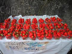Macedonia (Skopje) Strawberries, 100% natural grown in Matka fields (ustung) Tags: red field fruit nikon natural fresh macedonia matka skopje strawbwerry