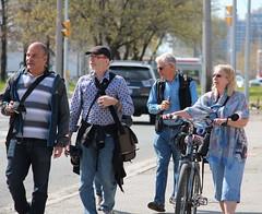 Walk and Talk (Honey Agarwal) Tags: road camera people sun toronto canada beautiful bike walking photography photo perfect shot group photographers sunny cycle talking clicks topw topwsw