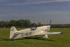 Percival Mew Gull G-AEXF (Kev Gregory (General)) Tags: old england season de airplane flying gull aircraft wing engine racing historic collection airshow piston british premiere gregory warden six kev shuttleworth percival mew gipsy 2016 airracing monoplane havilland gaexf