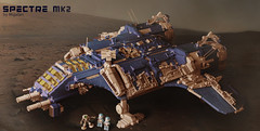 Spectre MK2 on the survace (migalart) Tags: classic robot ship lego space crew shuttle repairing neo survace
