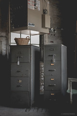 Duplicate Files (pooshda) Tags: old contrast zeiss vintage dark noir shadows antique sony rustic eerie retro 55mm files alpha filecabinet flatcolor crushedblacks a7rii
