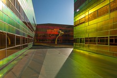 _DSC2234 (durr-architect) Tags: light sun colour reflection netherlands glass architecture modern facade offices almere dfense berkel unstudio