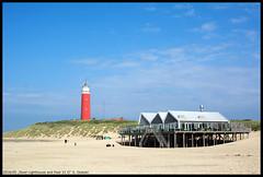 Texel Lighthouse and Paal 31 II (xlod) Tags: sky cloud lighthouse beach netherlands strand landscape dune himmel wolke landschaft texel leuchtturm dne niederlande paal31