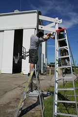 """Taking down the broken basketball backboard • <a style=""""font-size:0.8em;"""" href=""""http://www.flickr.com/photos/27717602@N03/27286417070/"""" target=""""_blank"""">View on Flickr</a>"""