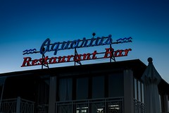 The Age of Aquarius (Number Johnny 5) Tags: light sign night dark outdoors lowlight nikon neon greece d750 tamron corfu 2016 2470mm
