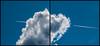 Through the clouds (koliru) Tags: color digital plane skies olympus e300 50200mm zuiko