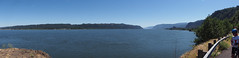 Columbia River Gorge at Tunnel Point (takenji1989) Tags: panorama water forest cyclist