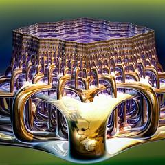 Clasped Caldera (grantdaws) Tags: fractal fractals art artist artwork artists 3d mandelbrot set julia mandala mandalas color colors colorful creative surreal surrealism surrealist computer generated