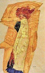 Gerti Schiele Against Ocher Colored Drapery, 1910 //by Egon Schiele (mike catalonian) Tags: portrait female painting austria fulllength 1910 1910s egonschiele xxcentury