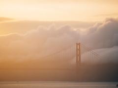 Golden Gate in Fog (brennan.browne) Tags: sanfrancisco california bridge fog clouds lumix panasonic goldengatebridge goldengate m43 mft gx7 microfourthirds