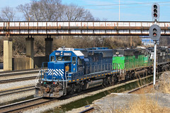 NS Leasers (weshendrix) Tags: norfolk southern chattanooga terminal ns tennessee tn train railfan railroad coffeys cliff freight manifest signal outdoor emd sd402 hlcx lease unit helm leasing diesel locomotive engine