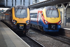 220028 + 222019 @ Derby (A J transport) Tags: class220 class222 voyager meridian dmu crosscountry eastmidlandstrains