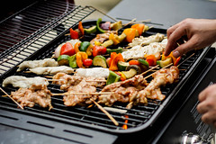 Grill (sprinklesandrainbows) Tags: grill bbq skewers chicken food sony a6000 canon 50mm 50mm18 sonya6000