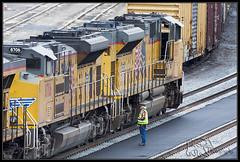 Cutting UP 8611 Loose (K-Szok-Photography) Tags: california canon trains socal transportation colton unionpacific canondslr locomotives railroads railyards inlandempire 50d canon50d sbcusa railwayinfrastructure westcolton kenszok kszokphotography