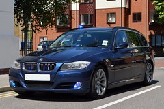 Unmarked Traffic car (S11 AUN) Tags: car traffic police surrey bmw vehicle roads emergency touring unit 999 3series unmarked rpu policing 330d anpr