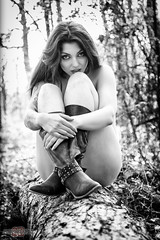 These boots were made for walking ... (sparkeyb) Tags: trees woman sexy female woodland model woods nikon boots naturallight arboretum fullframe fx implied d610 sparkeyb