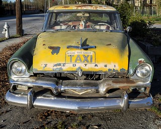Old Taxi - a 1957 Plymouth Savoy, I think