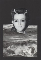 Descending Mavis - A Dream Book - 348 - revision (owlwise12) Tags: ocean collage paper handmade victorian mother surreal dreams photomontage anima psyche mavis trauma nightmares chidhood daydescending