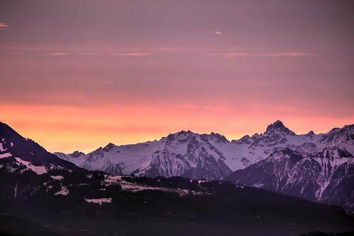 """Sunrise over """"Grosses Walsertal"""""""