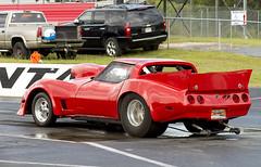 Corvette drag racer (Thumpr455) Tags: red chevrolet car racetrack georgia nikon commerce nostalgia chevy autoracing 27 corvette sept dragracing d800 2014 atlantadragway worldcars afnikkor80200mmf28d gearjam