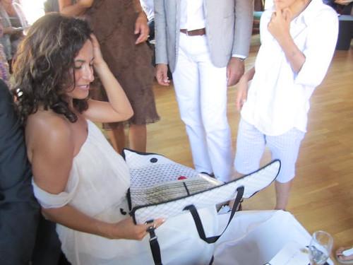 Bröllopsgåva till bruden. Väska A3.