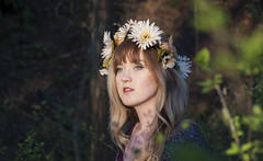Watchful (keskinenj) Tags: flowers flower fern cute nature girl forest outside skin hipster pale eugene lipstick autzen flowercrown autzenstadium