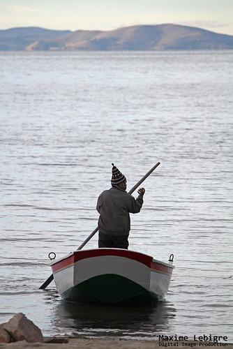 Pescador del lago Titicaca - Bolivia