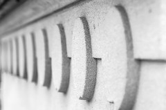 Dots (mikemcnary) Tags: blackandwhite texture geometric rock stone closeup carved dof unitedstates bokeh kentucky circles capital perspective line frankfort