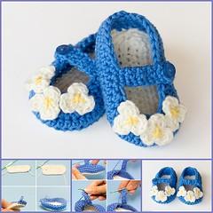 Mary Jane Baby Booties  crochet pattern-wonderfuldiy f (Wonderful DIY) Tags: diy crafts crochetslippers
