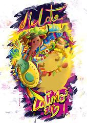 CO2 GLOBAL POSTER BIENNIAL OF COLORADO 2015 (Andreaga) Tags: chile peru argentina brasil illustration poster mexico typography colorado colombia lima culture latinoamerica type latino banderas cultura ilustracion paises centroamerica behance culturalatinoamericana andreaga globalposter posterlatinoamerica