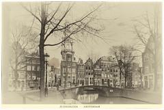 Zuiderkerk    Amsterdam (EdRocket) Tags: amsterdam postcard canals tokina grachten 116 zuiderkerk raamgracht silverefex