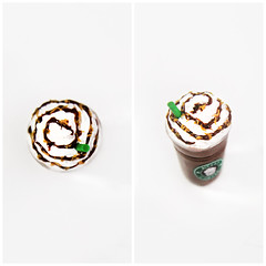 A small frappucino to go, please. (AiClay) Tags: ice coffee miniature drink beverage starbucks clay blended polymer aiclay