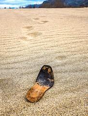Lost Soul (evanffitzer) Tags: leather river shoe sand dunes tracks footprints riverbed soul sole hdr evanffitzer evanfitzer fujix100s