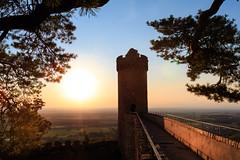 Sundown Bensheim Auerbach 3 (drefsmichael) Tags: blue orange castle canon germany deutschland sonnenuntergang sundown schloss auerbach bensheim 70d