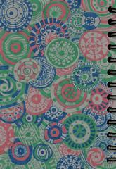 """Boys & Girls"" (BKHagar *Kim*) Tags: pink blue green pen circle notebook drawing circles pastel doodle marker draw circular drawingjournal bkhagar"