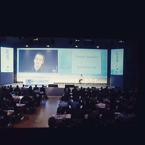 #EdwardSnowden spricht hier per Livestream über die Zukunft des Internet #whdglobal #whd2014