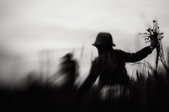 Summer, we're waiting for you. (Dalla*) Tags: flowers summer people white black boys kids night lensbaby iceland bright wwwdallais
