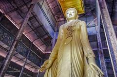 Standing Buddha (pietkagab) Tags: trip travel statue temple photography golden shrine asia pentax buddha burma religion adventure indoors myanmar southeast mandalay k5 pentaxk5ii pietkagab piotrgaborek